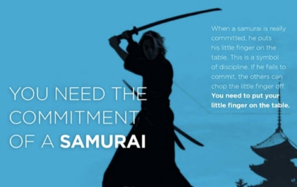 commitment of the samourai