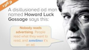nobody reads advertising