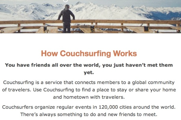 couchsurfing how