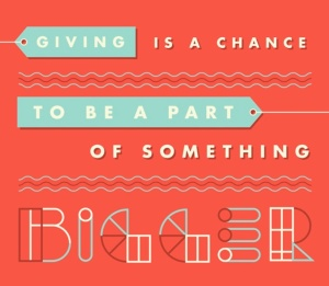 giving is a chance