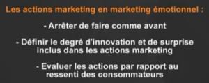 les actions marketing émotionnel