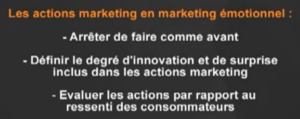 les actions marketing émotionnel