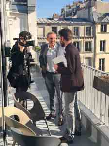 interview en terrasse