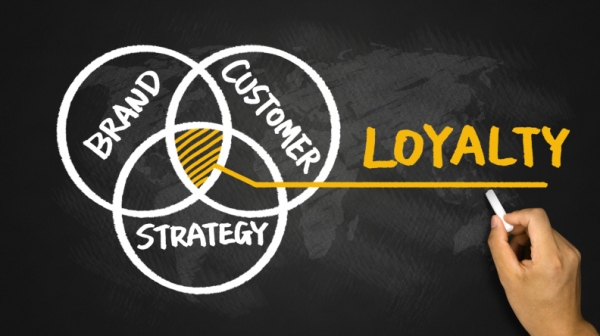 loyalty concept hand drawing on blackboard