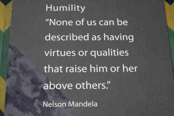 humility Nelson Mandela
