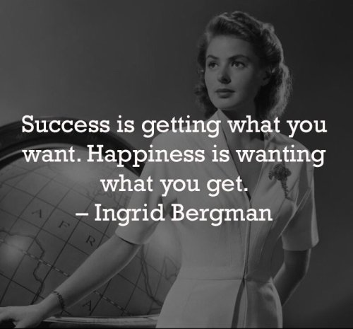 Success or happyness