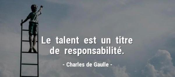 le talent Ch de Gaulle